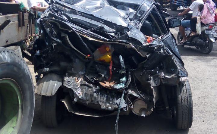 Delapan Kendaraan Terlibat Kecelakaan Beruntun di Simpang Empat Patung Sapi