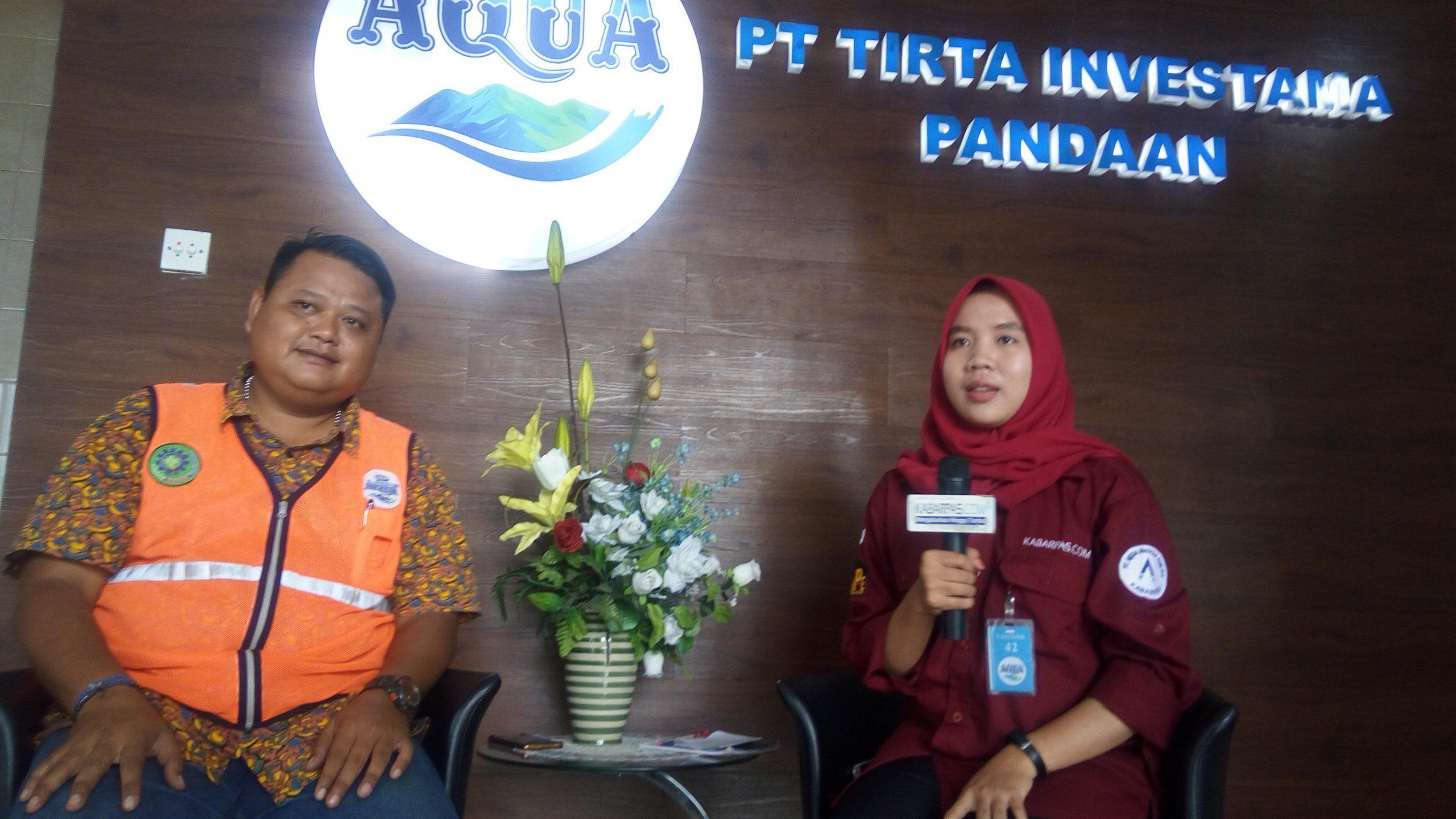 Bincang Kabarpas dengan Pabrik Aqua Pandaan Tentang Program CSR untuk Tiga Pilar
