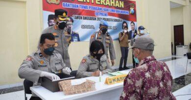 Terdampak Pandemi, Pedagang Kaki Lima dan Warung Mendapat Bantuan Tunai dari Polresta Sidoarjo