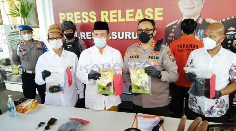 Kurir 2 Kg Sabu Jaringan Internasional Ditangkap di Pasuruan